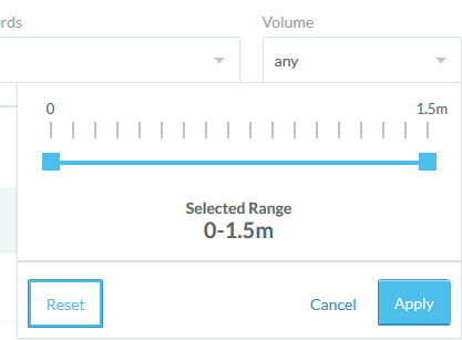 Search Volume Selection Slider in Moz Keyword Explorer